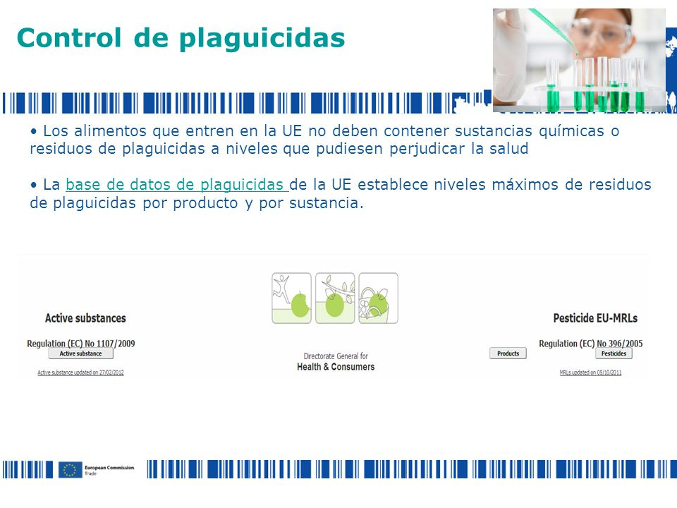 Control de plaguicidas