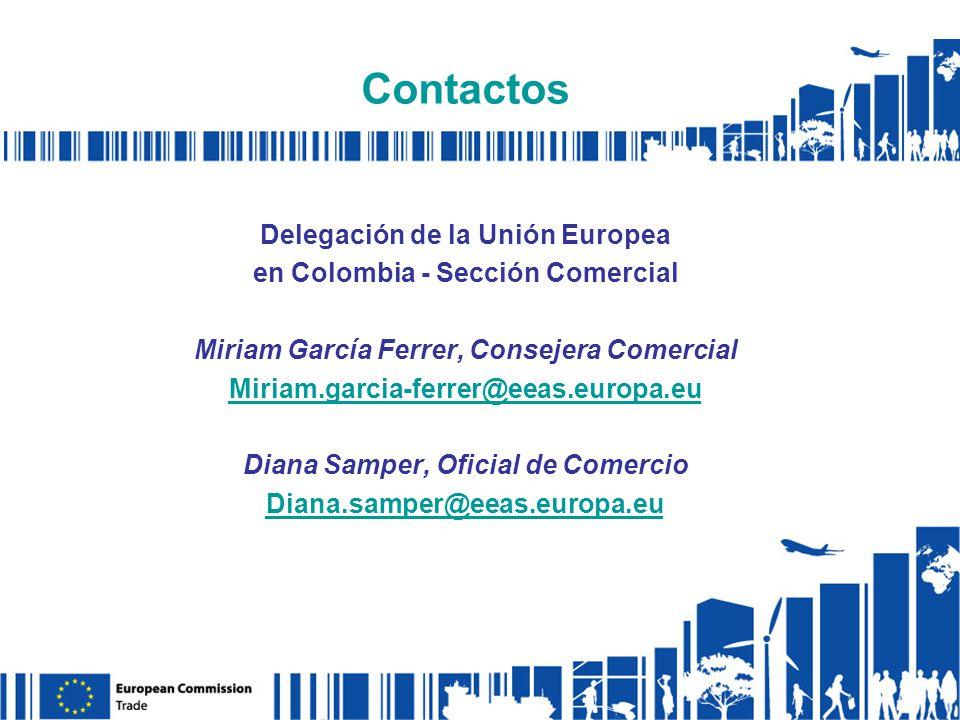 Contactos Delegación de la Unión Europea