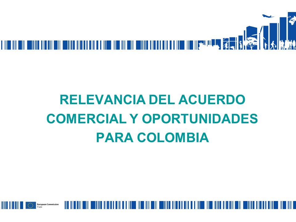 RELEVANCIA DEL ACUERDO COMERCIAL Y OPORTUNIDADES