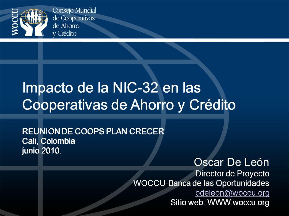Impacto de la NIC-32 en las Cooperativas de Ahorro y Crédito