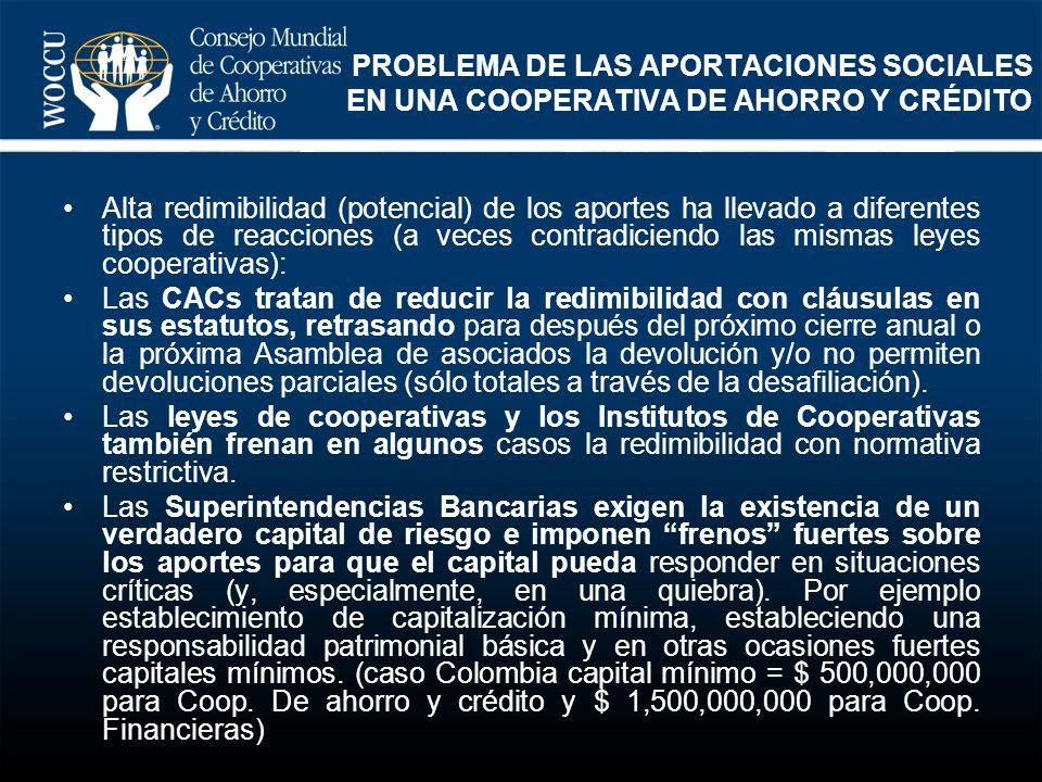 PROBLEMA DE LAS APORTACIONES SOCIALES EN UNA COOPERATIVA DE AHORRO Y CRÉDITO