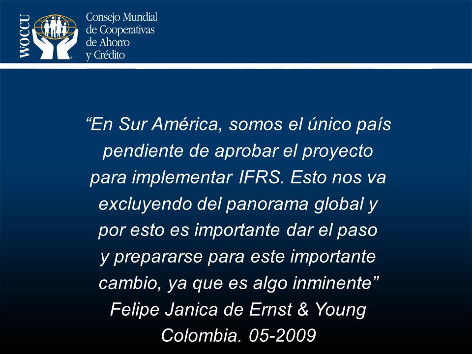 En Sur América, somos el único país pendiente de aprobar el proyecto