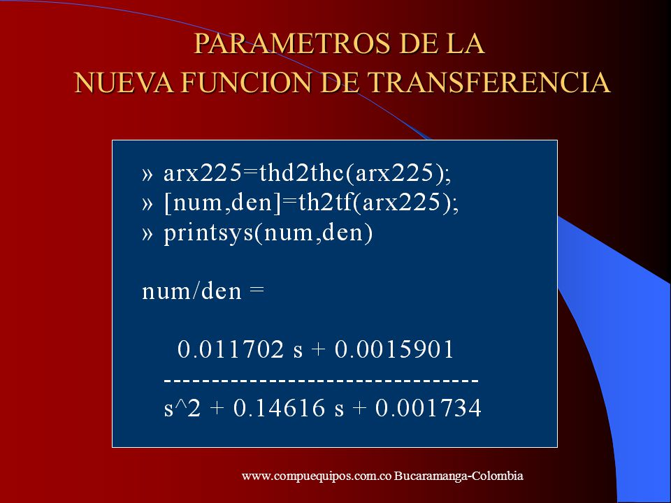 NUEVA FUNCION DE TRANSFERENCIA