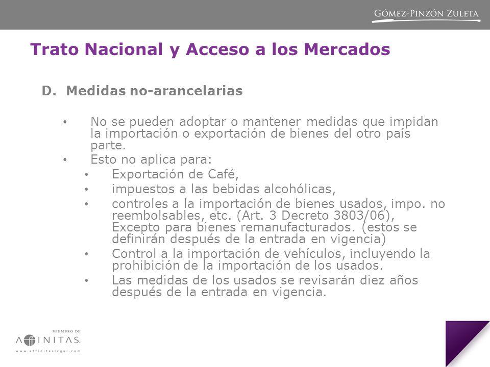 Trato Nacional y Acceso a los Mercados