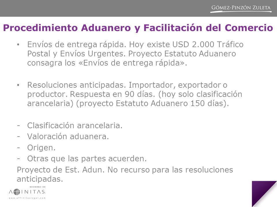 Procedimiento Aduanero y Facilitación del Comercio