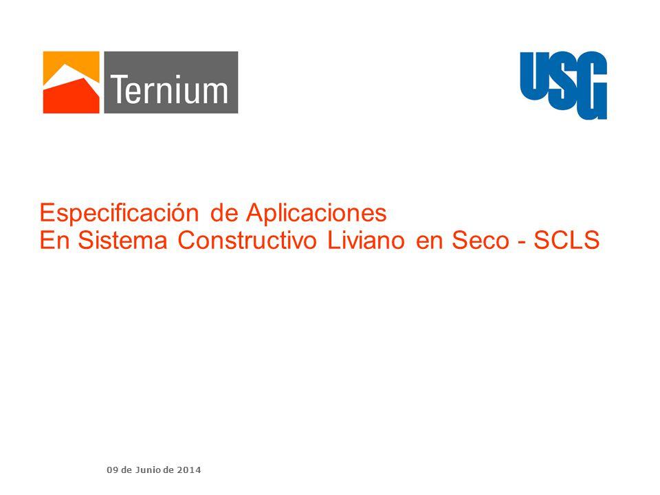 Especificación de Aplicaciones En Sistema Constructivo Liviano en Seco - SCLS