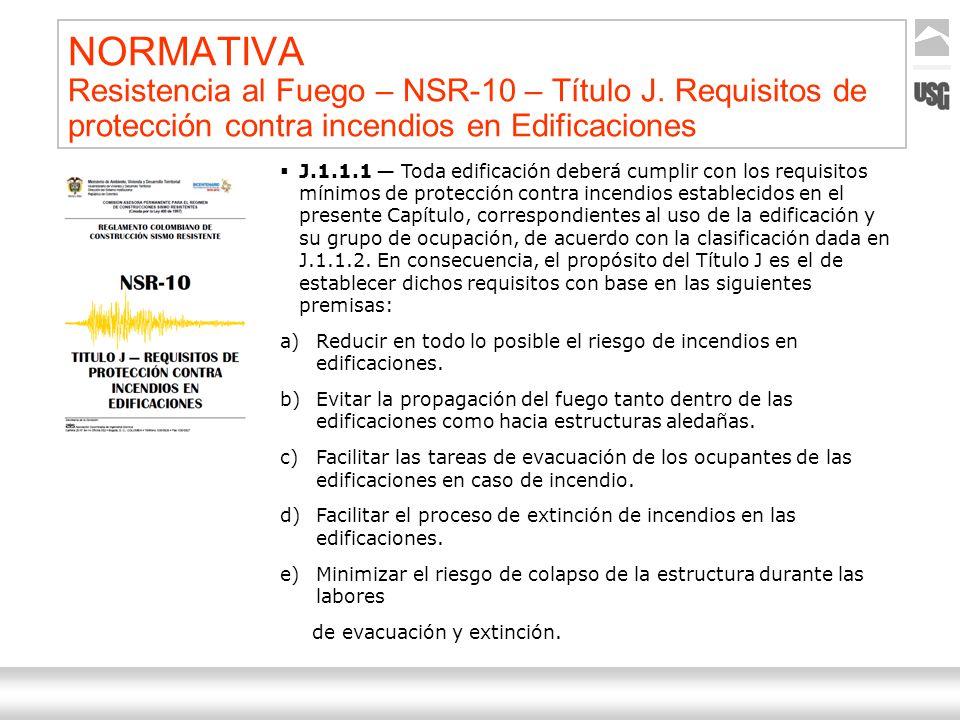 NORMATIVA Resistencia al Fuego – NSR-10 – Título J