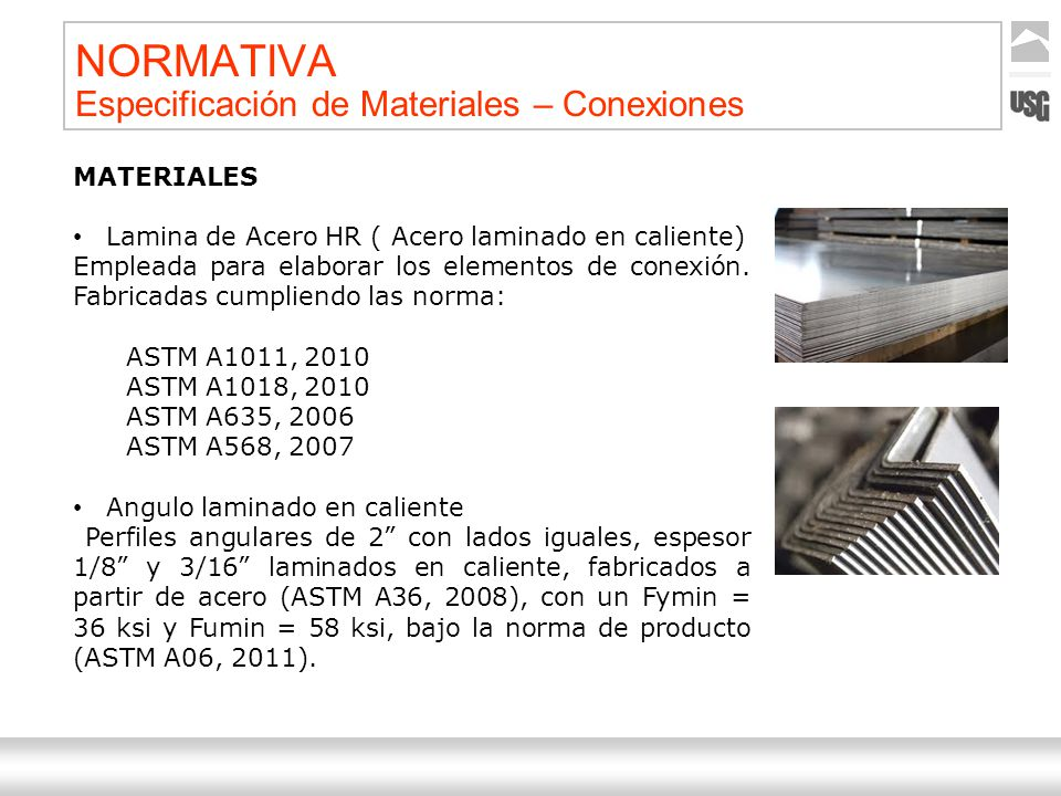NORMATIVA Especificación de Materiales – Conexiones