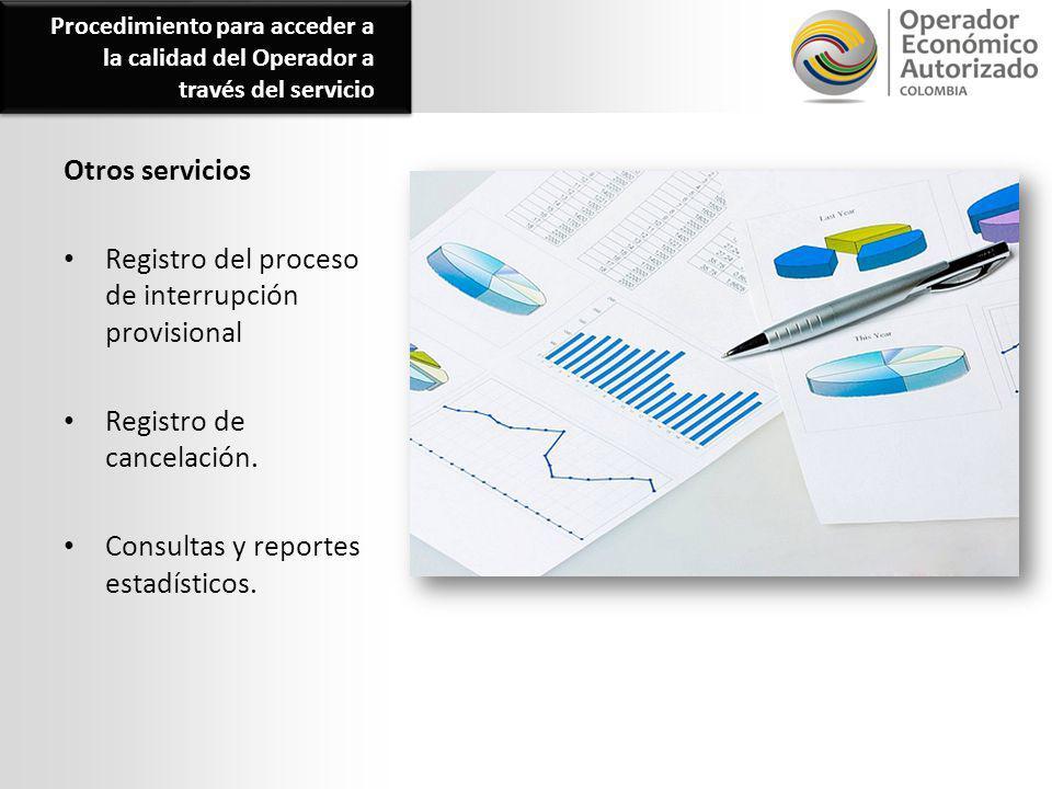 Registro del proceso de interrupción provisional