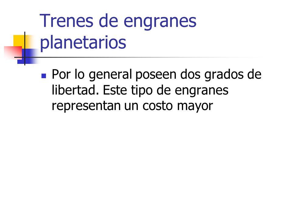 Trenes de engranes planetarios