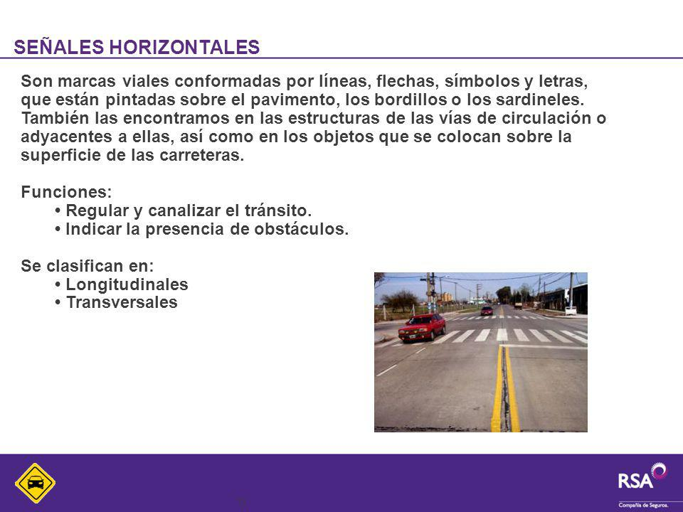 SEÑALES HORIZONTALES