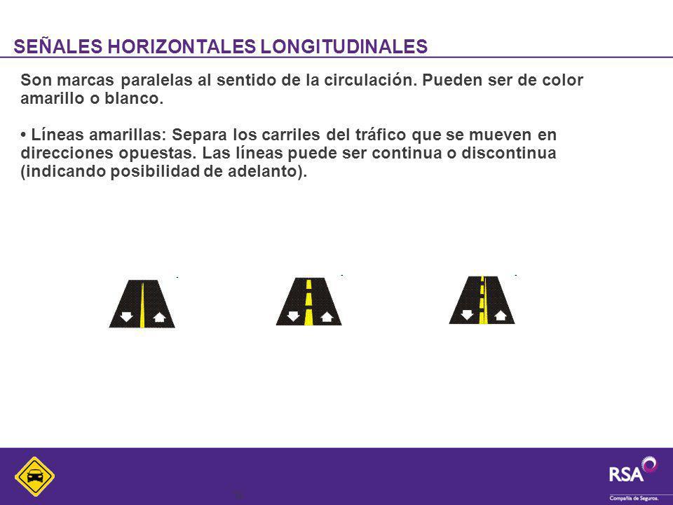 SEÑALES HORIZONTALES LONGITUDINALES