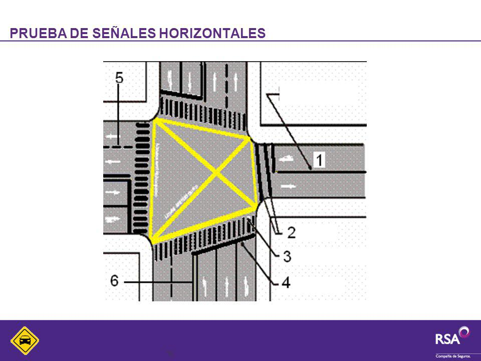 PRUEBA DE SEÑALES HORIZONTALES