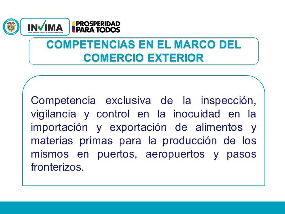 COMPETENCIAS EN EL MARCO DEL COMERCIO EXTERIOR