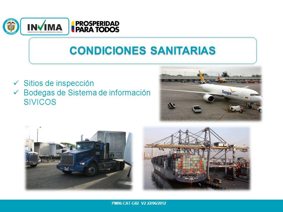 CONDICIONES SANITARIAS