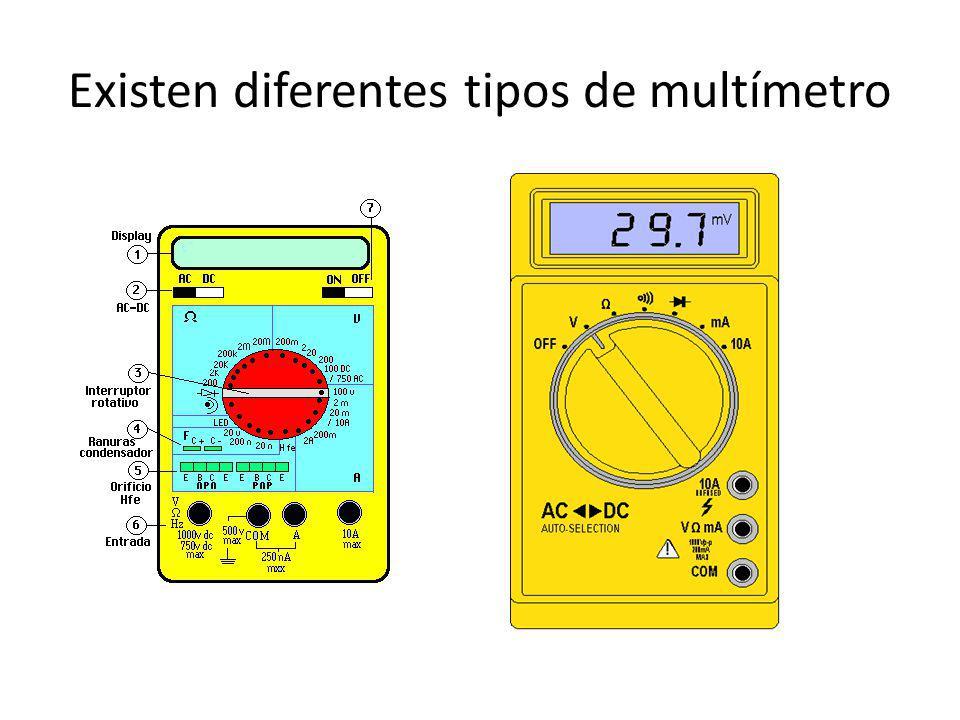 Existen diferentes tipos de multímetro
