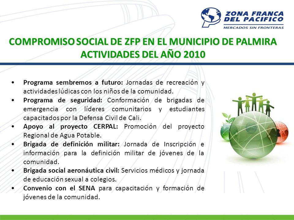 COMPROMISO SOCIAL DE ZFP EN EL MUNICIPIO DE PALMIRA
