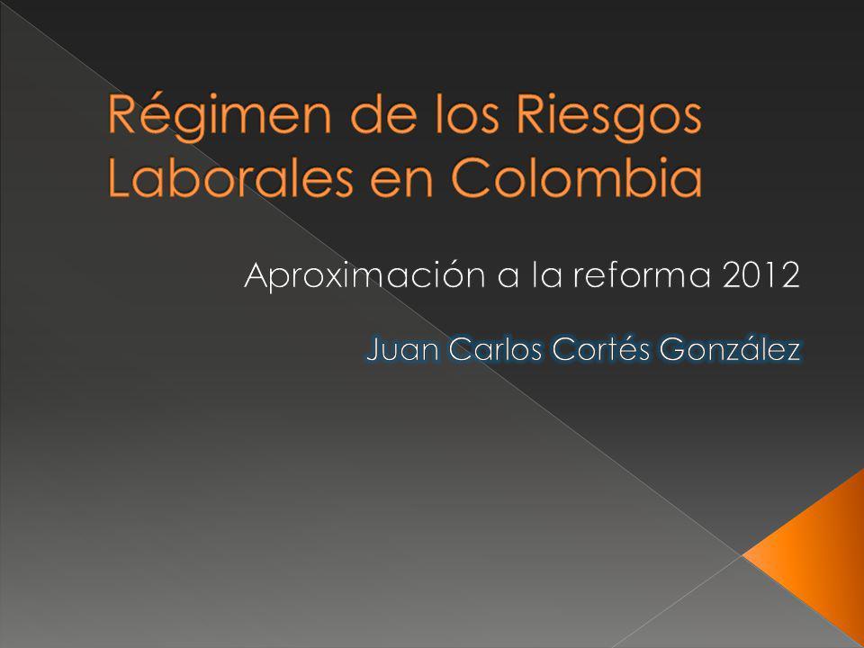 Régimen de los Riesgos Laborales en Colombia