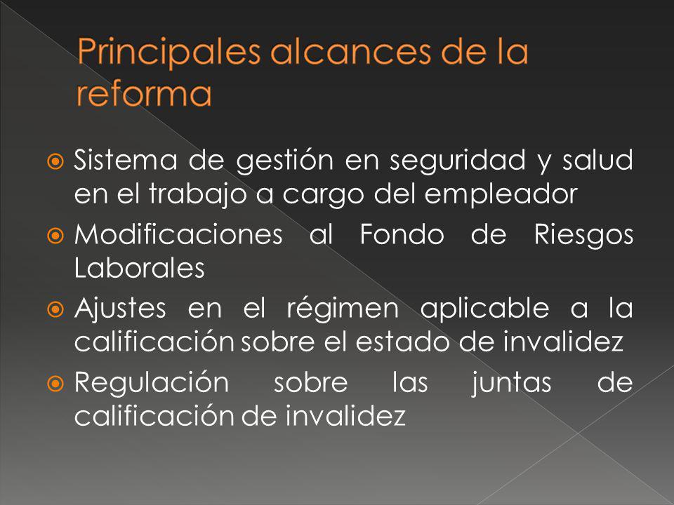 Principales alcances de la reforma