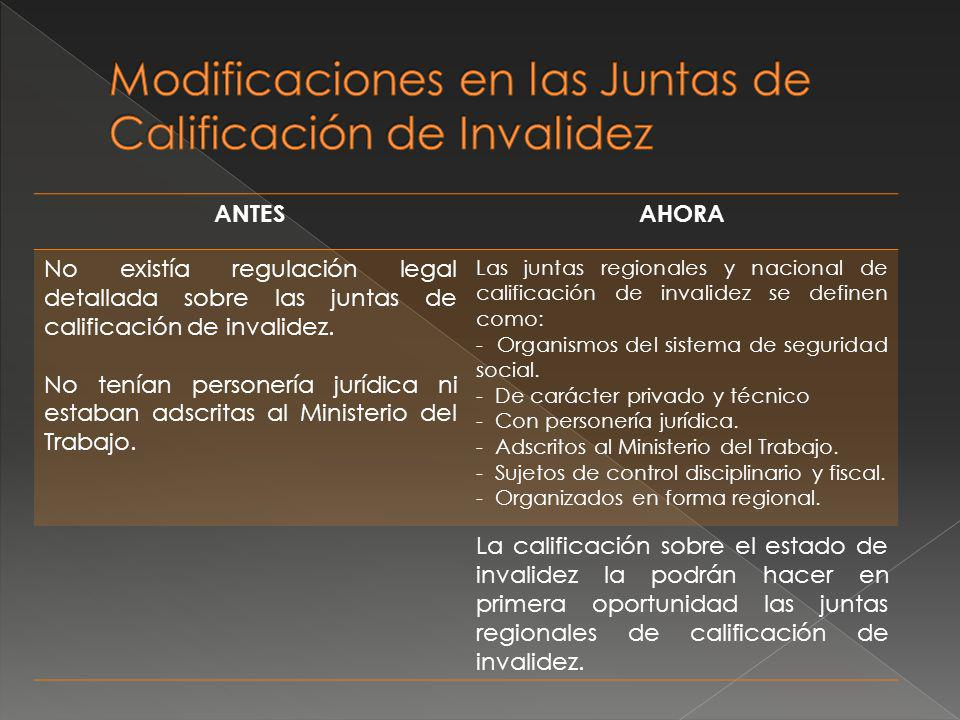 Modificaciones en las Juntas de Calificación de Invalidez