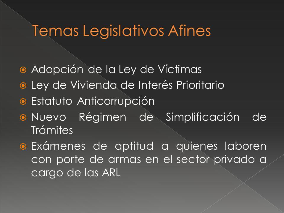 Temas Legislativos Afines