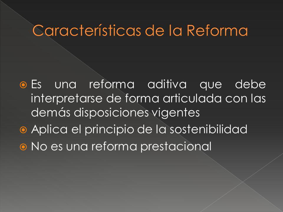 Características de la Reforma