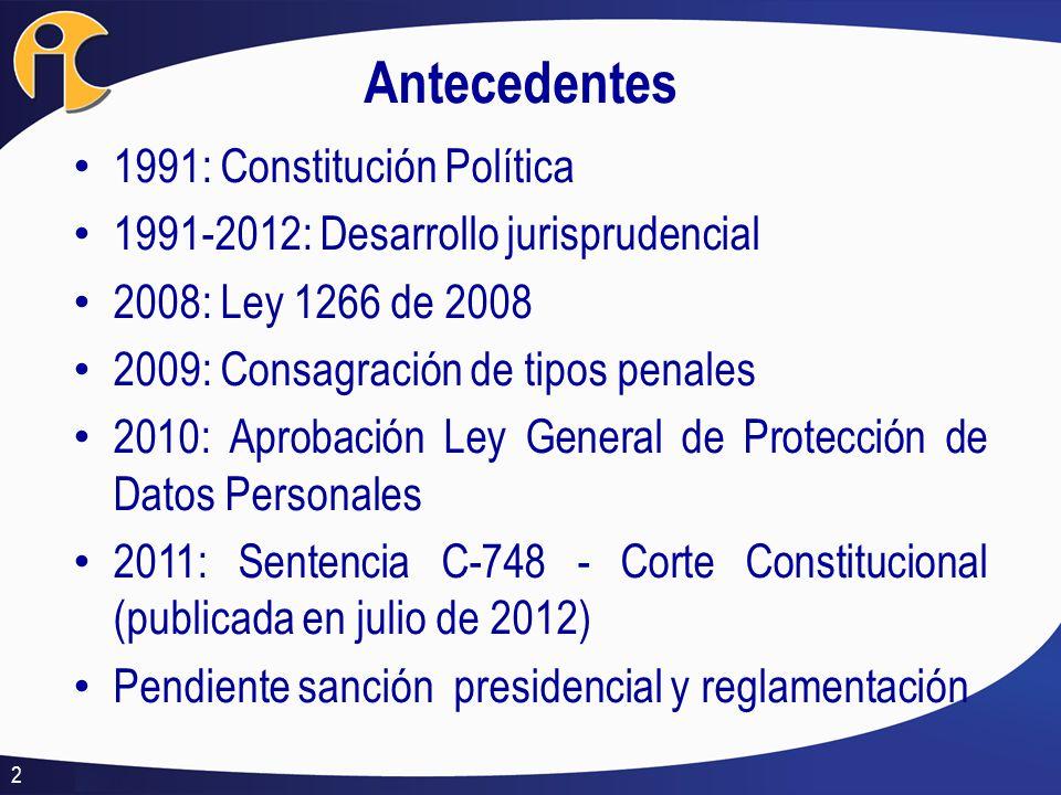 Antecedentes 1991: Constitución Política