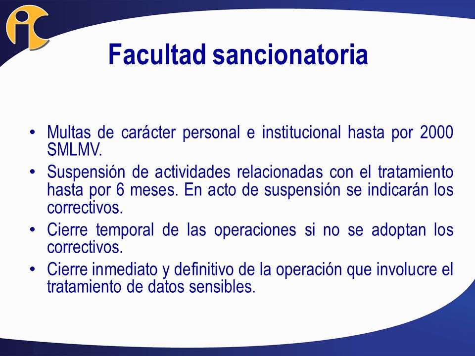Facultad sancionatoria