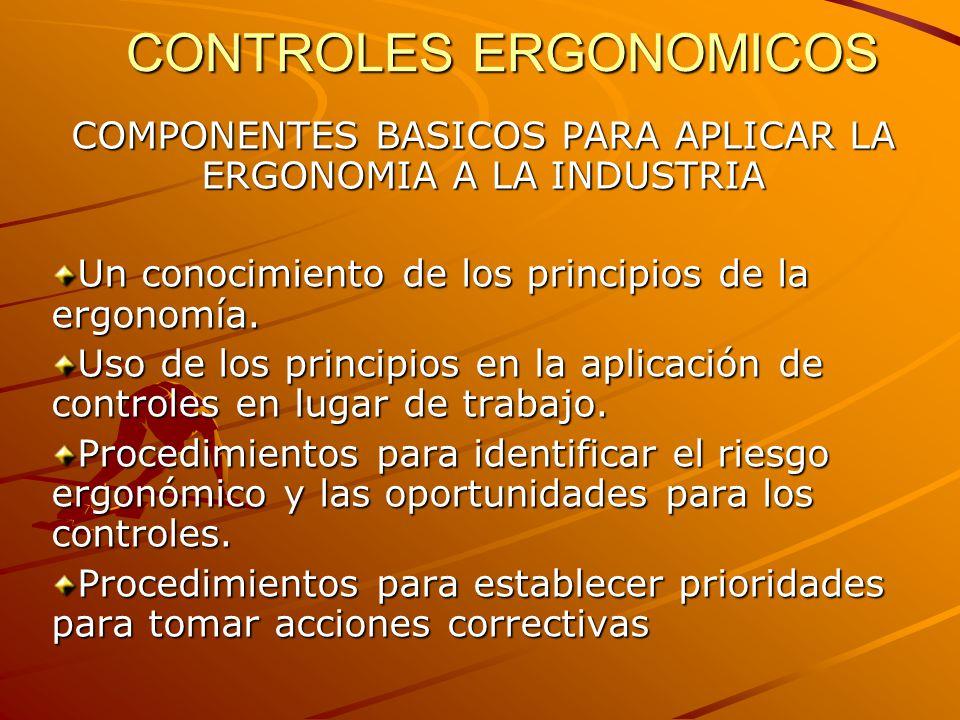 CONTROLES ERGONOMICOS