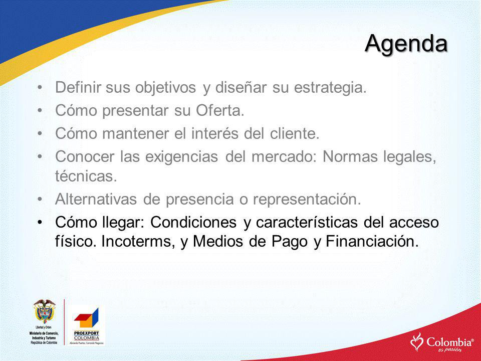 Agenda Definir sus objetivos y diseñar su estrategia.