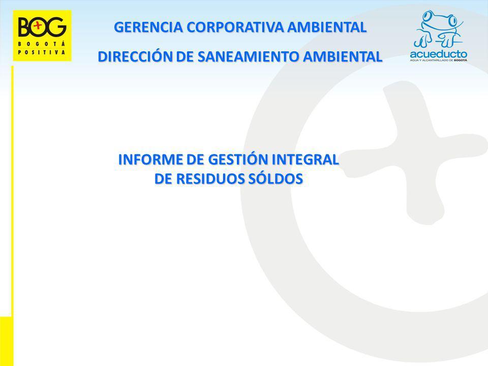 GERENCIA CORPORATIVA AMBIENTAL DIRECCIÓN DE SANEAMIENTO AMBIENTAL