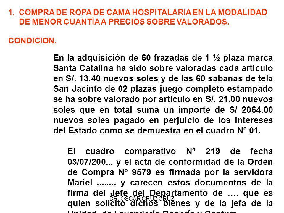COMPRA DE ROPA DE CAMA HOSPITALARIA EN LA MODALIDAD DE MENOR CUANTÌA A PRECIOS SOBRE VALORADOS.