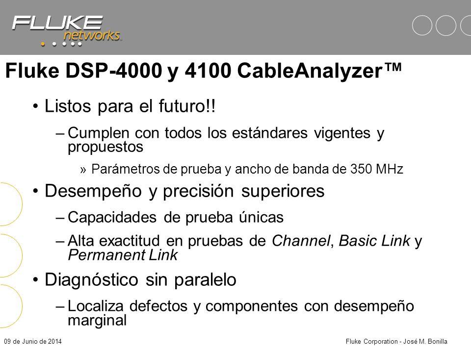 Fluke DSP-4000 y 4100 CableAnalyzer™
