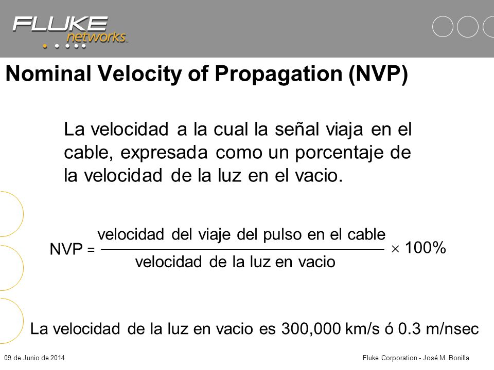 Nominal Velocity of Propagation (NVP)
