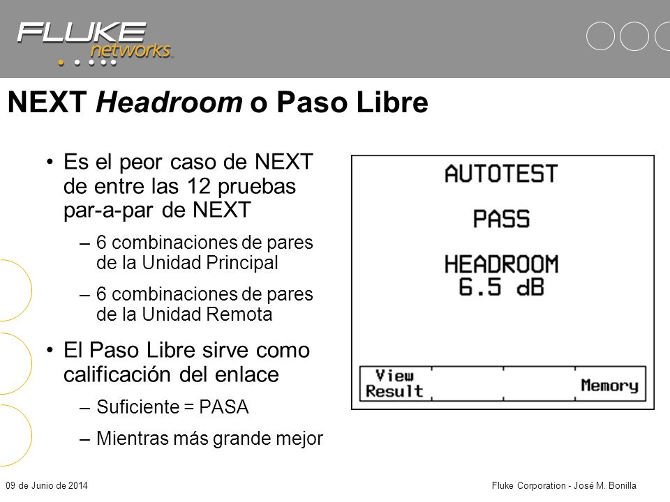 NEXT Headroom o Paso Libre