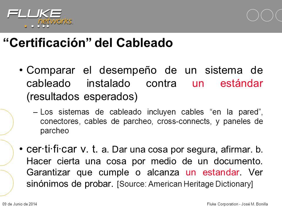 Certificación del Cableado