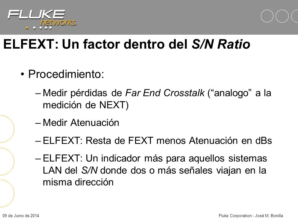 ELFEXT: Un factor dentro del S/N Ratio
