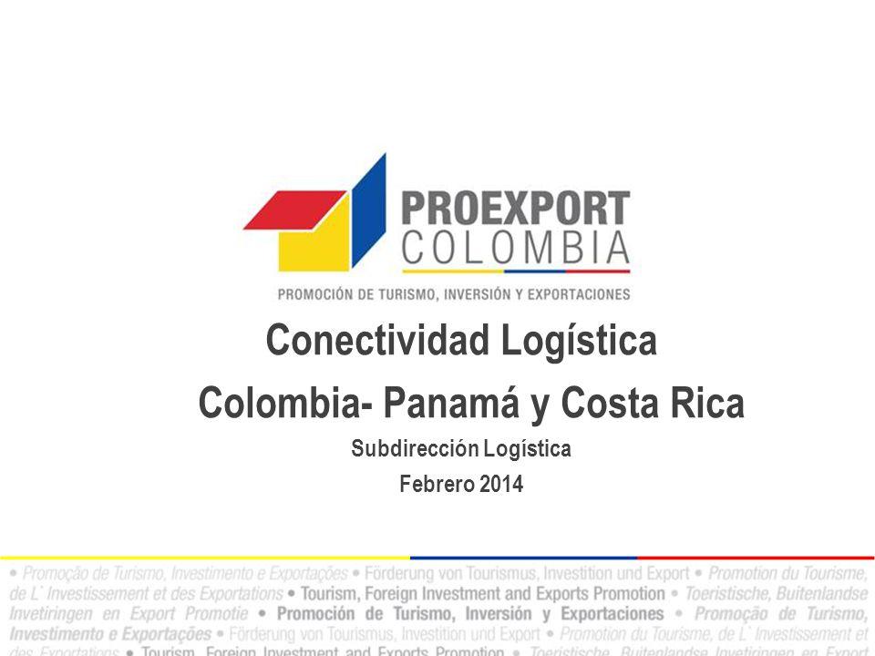 Conectividad Logística Colombia- Panamá y Costa Rica