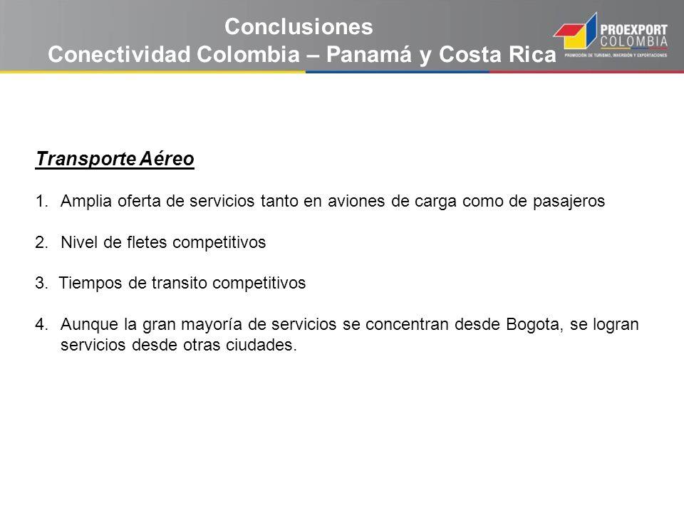 Conectividad Colombia – Panamá y Costa Rica