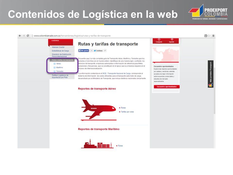 Contenidos de Logística en la web