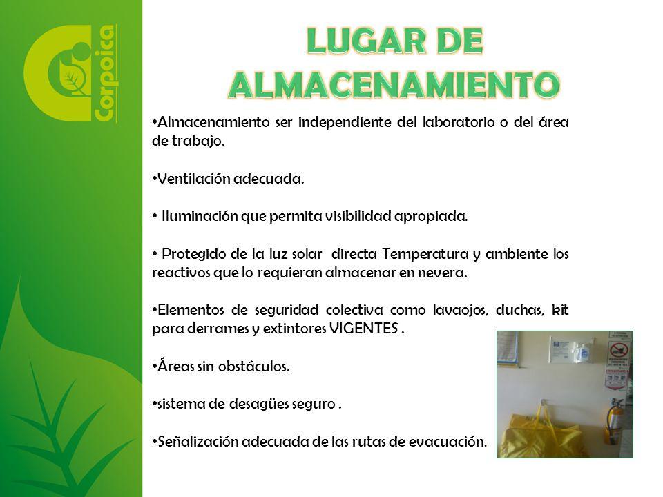 LUGAR DE ALMACENAMIENTO