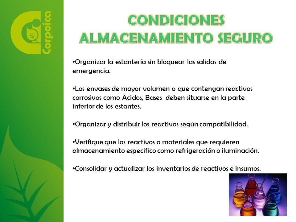 CONDICIONES ALMACENAMIENTO SEGURO