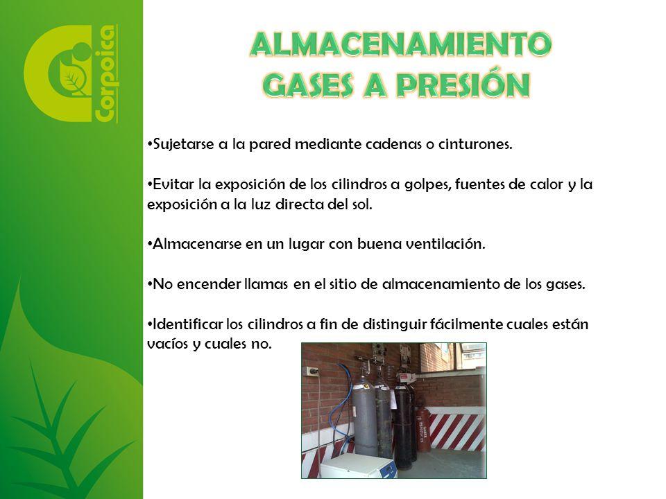 ALMACENAMIENTO GASES A PRESIÓN
