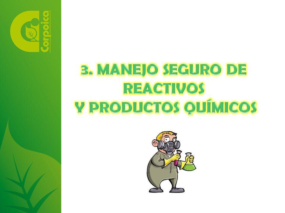 3. MANEJO SEGURO DE REACTIVOS Y PRODUCTOS QUÍMICOS