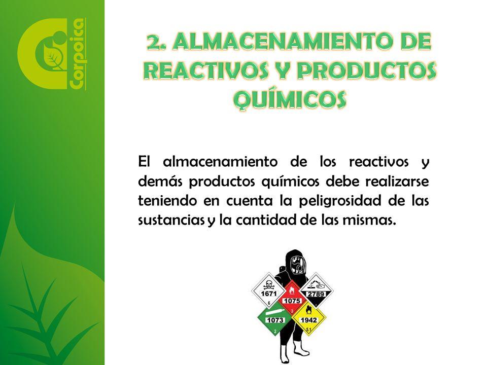 2. ALMACENAMIENTO DE REACTIVOS Y PRODUCTOS QUÍMICOS