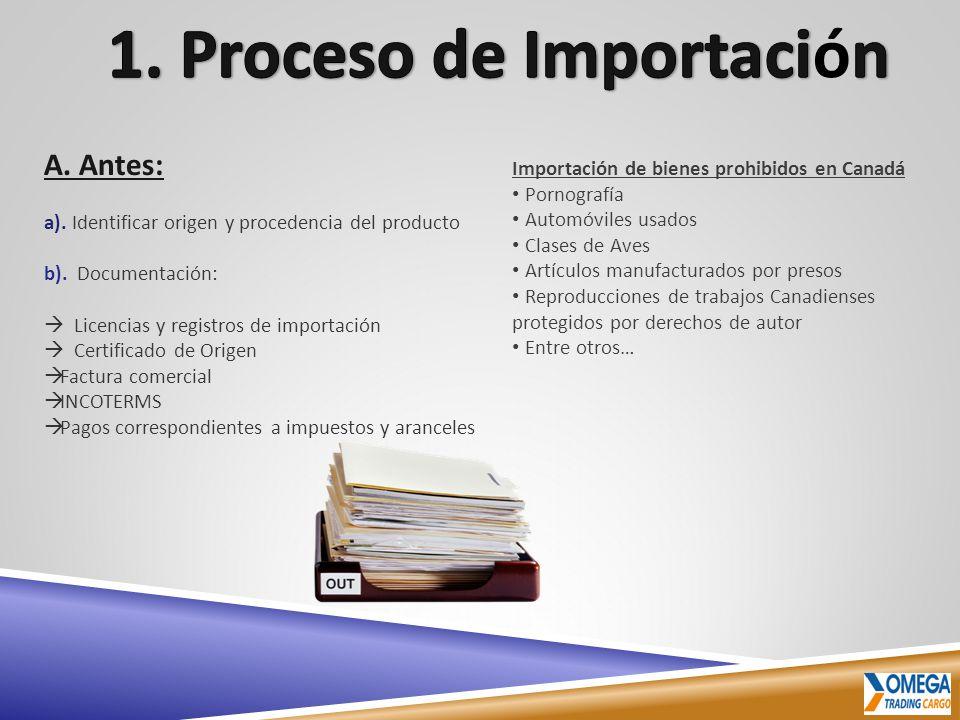 1. Proceso de Importación
