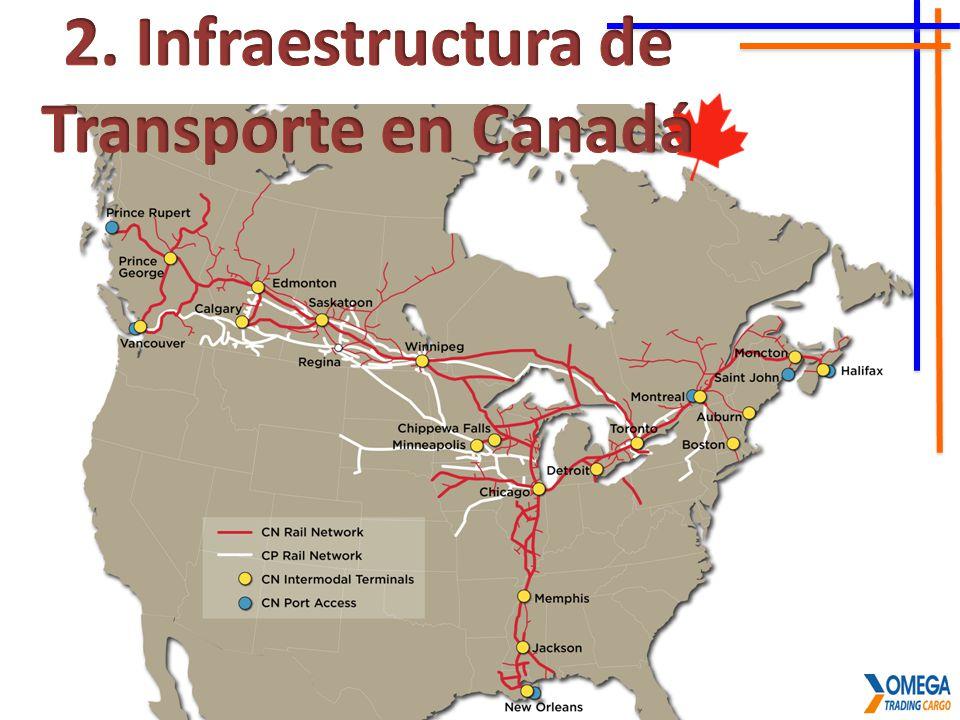 2. Infraestructura de Transporte en Canadá