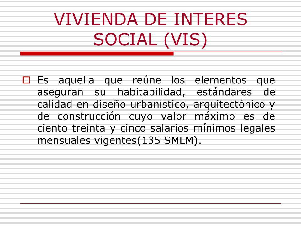 VIVIENDA DE INTERES SOCIAL (VIS)