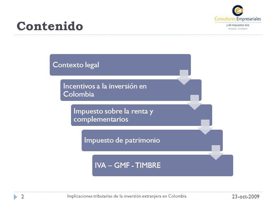 Implicaciones tributarias de la inversión extranjera en Colombia