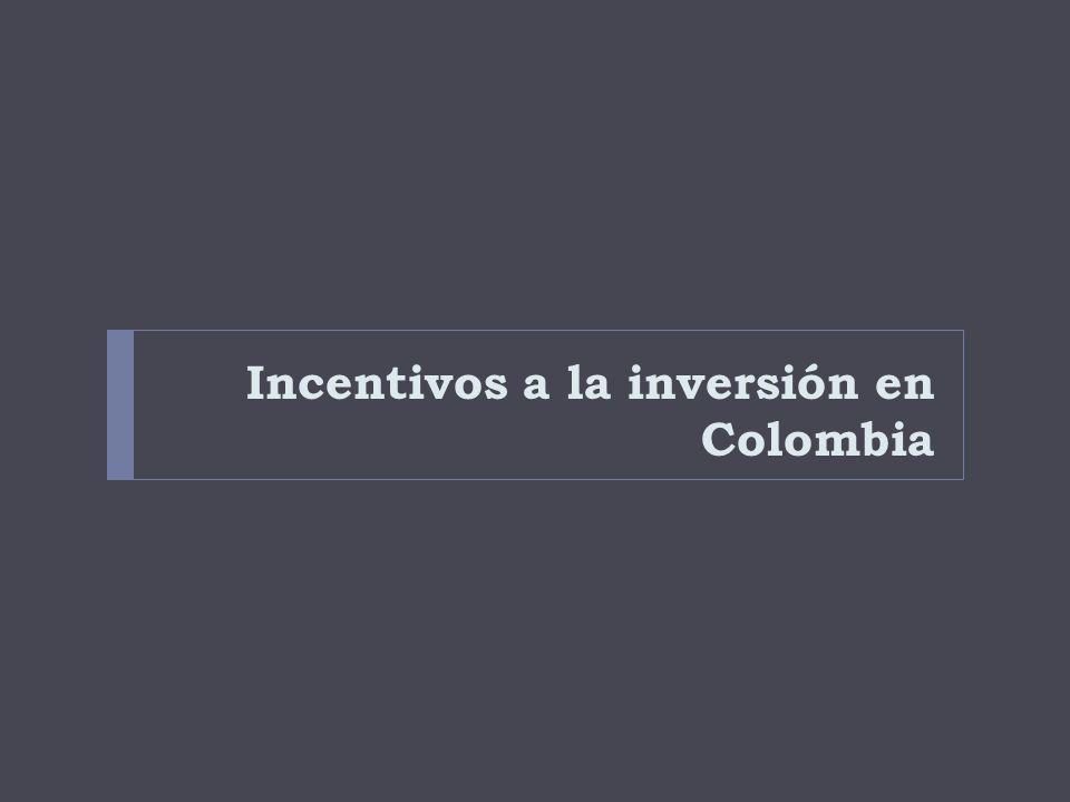 Incentivos a la inversión en Colombia